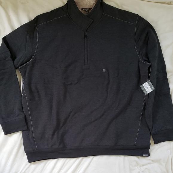 Men's Eddie Bauer Sweatshirt XXL Tall Quarter Zip